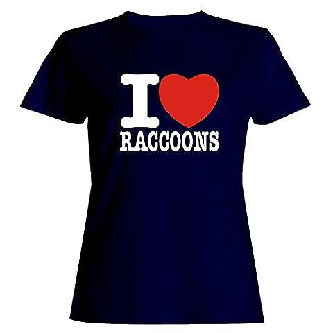 Idakoos I love Raccoon Femmes T-Shirt
