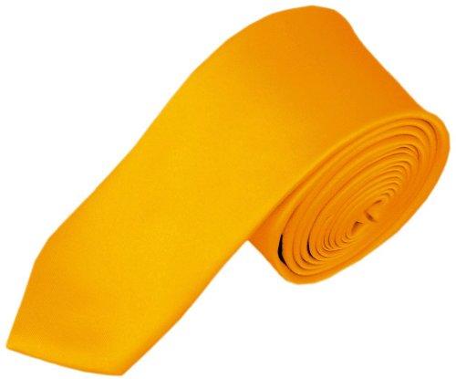 NYFASHION101 Cravate pour enfant de 121,9 cm à couleur unie Jaune doré