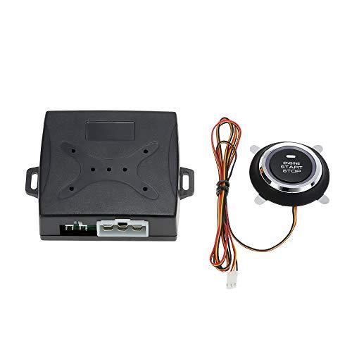 Wencaimd Universal Car Alarm System Fahrsicherheit Drucktaste Motorstart RFID Sperre Zündung Starter Keyless Entry System zum Autos Autos Kraftfahrzeuge