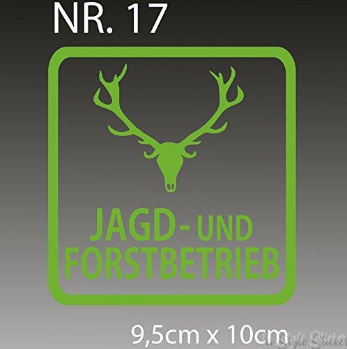 Jagd und Forstbetrieb Aufkleber für alle glatten Oberlächen (Jagd Freie Aufkleber)