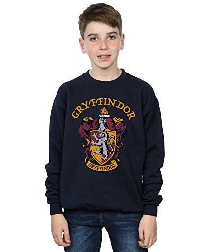Harry Potter Jungen Gryffindor Crest Sweatshirt Navy Blau 9-11 Years -