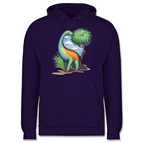 Sonstige Tiere - Dino - Langhals - Männer Premium Kapuzenpullover / Hoodie Lila