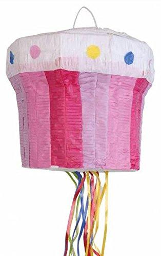 Amscan 9903134 Pull Pinata Cupcake, Mehrfarbig