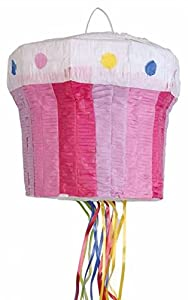 Amscan 9903134Pull Piñata Cupcake, multicolor
