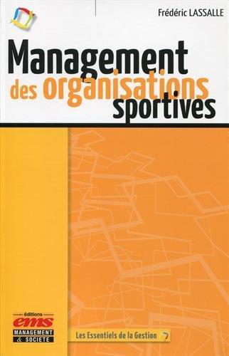 Management des organisations sportives par Frédéric Lassalle