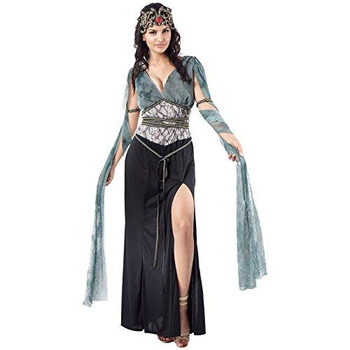 Kostüm Göttin Haar Griechische - Spassprofi Medusa Gr. 38-40 Kostüm Griechische Göttin Schlangen Haare