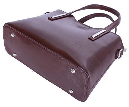 Big Handbag Shop - Borsa a tracolla donna Navy - Tan Trim