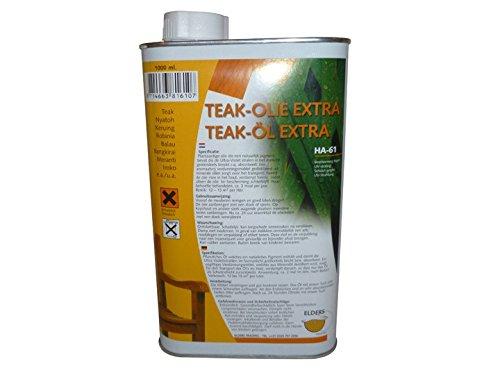Preisvergleich Produktbild Gartenmöbel Pflege Teak-Öl 1L (19,95EUR /L) Livingruhm