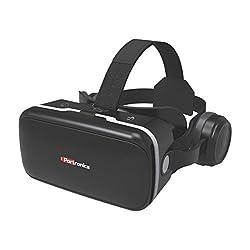 Portronics POR-824 Saga PRO VR Box Virtual Reality Headsets with Headphones, Ultra Polished HD optical lenses 3D glasses for Mobile