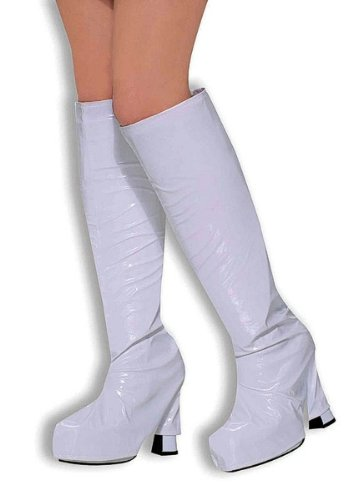 Go Go Boot Tops. White Accessory Fancy Dress