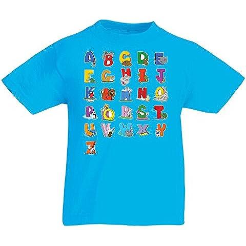 N4654K La camiseta de los niños Alphabet