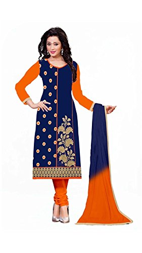 Yashvi Arts Womens New Fashion Designer Fancy Wear Today Low Price Best Offer All Type Of Modern Blue Colored Embroidered Chudidar Salwar Suit