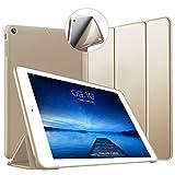 VAGHVEO iPad Air Hülle Ultradünne Superleicht Schutzhülle mit Soft TPU Rückseite Abdeckung Smart Case mit Auto Schlaf/Wach Funktion Cover für iPad Air 2013 (Modell A1474 A1475 A1476), Gold