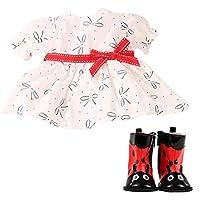 Gotz 3403083 Baby Doll Combo Sweet Ladybug - Size M - Dolls Clothing / Accessory Set - Suitable For Baby Dolls Size M (42 - 46 cm)