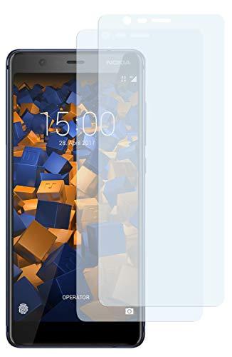 mumbi Schutzfolie kompatibel mit Nokia 5.1 2018 Folie klar, Bildschirmschutzfolie (2x)