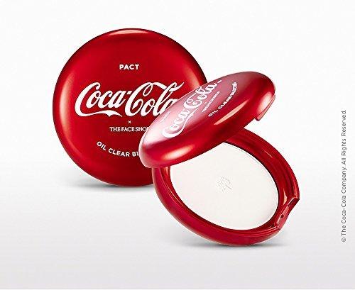The Face Shop Coca Cola claro aceite secante Pacto
