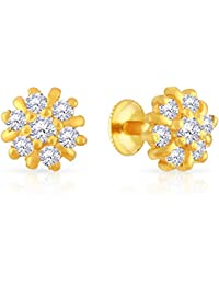 Malabar Gold and Diamonds 22k (916) Yellow Gold Stud Earrings for Women