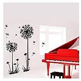 décoration de meubles, bazhahei, Noir créatif PVC Fleur de pissenlit plante ARBRE Grande amovible Home Wall Decal S de Sticker Mural amovible de pissenlit Noir raisins L Noir