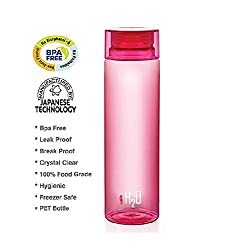 cello h2o unbreakable water bottle 1000ml pink