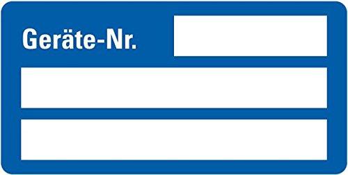 LEMAX® Inventaretikett Geräte-Nr.,blau,Dokumentenfolie,m.Spezialkleber,50x25mm,9/Bogen