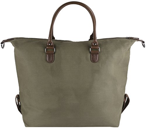 Shopper XXL 'Marley' in tela cerata antracite, colore:Antracite Oliva