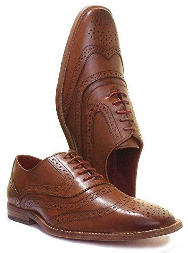Justin Reece Mick, Chaussures de Ville à Lacets Pour Homme peau