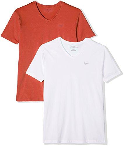 KAPORAL Herren T-Shirt Gifte17m11 2er Pack Multicolore (Crawhi)
