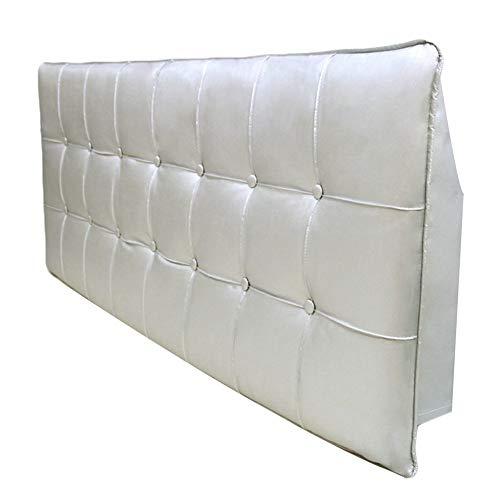 WENZHE Kopfteil Kissen Für Betten Bett Rückenkissen Rückenlehne Bettrückwand PU Antikollisionskopf Soft Case Zuhause Schlafzimmer Hüftgurt Kissen, 6 Farben (Color : F, Size : 200x60cm)