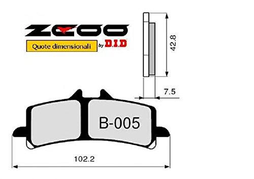 45B00500 PASTIGLIE FRENO ZCOO (B005 EX) DUCATI MULTISTRADA 1200 S ABS - S Touring - S Pike Peak - S D-air - oem #530 - c (ANTERI