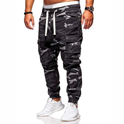 hahashop2 Herren Straight Jeans Original Jeanshosen Basic Slim Fit Skinny Jeans Arbeiten Sie lose hübsche Taschenjeans-Haremhosen-Arbeitskleidungs-Tarnungshosen um - Klassische Spandex-jeans