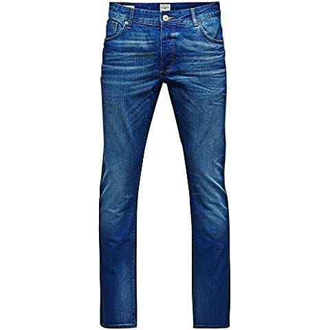 JACK & JONES Uomo Gamba Diritta Jeans Clark Originale At 906 Org Noos