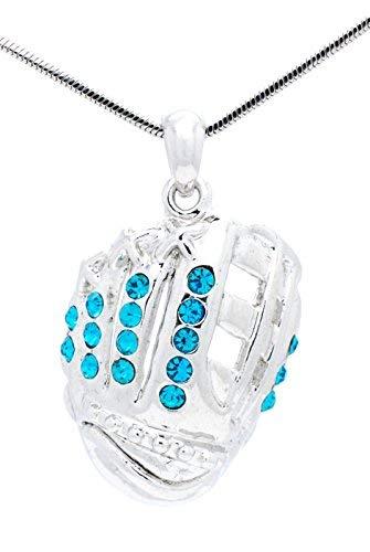 Violett Victoria & Fan Star Jewelry Softball Handschuh Halskette–Baseball Handschuh Halskette–Handschuh Anhänger–Mehr Farben erhältlich, blaugrün