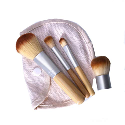 Aberimy 4pcs Bestes Augen Make Up Pinsel Set Pinselset Make-Up Pinsel Wood Kosmetik Komplett Eye Kit...