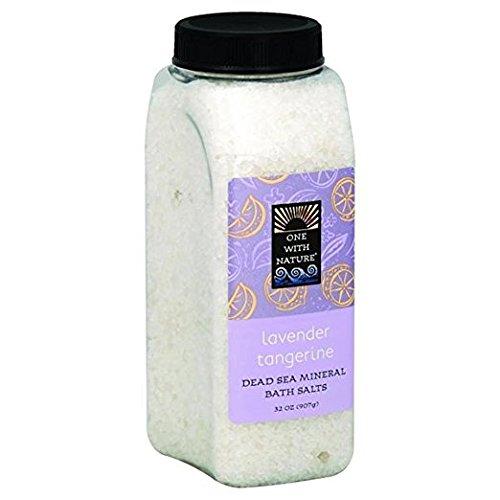 One With Nature Sels de bain - Parfum de lavande-mandarine - 21 sels minéraux de la Mer morte - Pour nourrir et revitaliser la peau - 946 ml