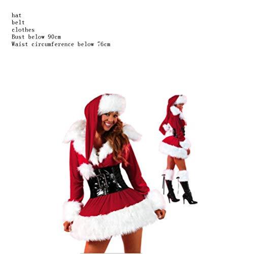 Nachtwäsche & Bademäntel Für Damen Weihnachtskostüm Red Santa Claus Kleidung Weihnachten Adult Female Foto Cos, Rot, Eine Größe