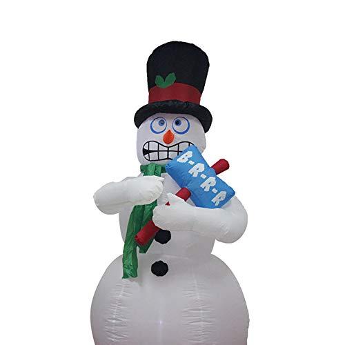 6 Fuß Hoch Schneemann Aufblasbar LED Urlaub Hof Dekoration Animiert Zittern Weihnachten Schauer Und Erschütterungen (Dekorationen Aufblasbar Weihnachten Hof)
