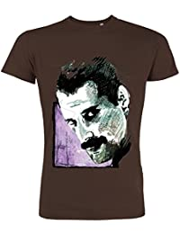 Pushertees - T-Shirt Mann Chocolat LTB-34 musik rock king of queen Mercury we will rock you