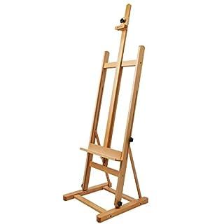 Artina Atelierstaffelei Siena Staffelei massive Holzstaffelei aus geöltem Buchenholz für Leinwände bis 125 cm - klappbar