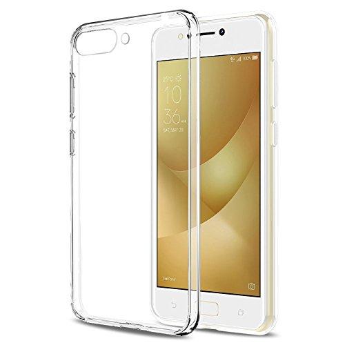 EasyULT ASUS Zenfone 4 Max ZC554KL Hülle Case, UltraSlim TPU Case Handyhülle für ASUS Zenfone 4 Max ZC554KL Schutzhülle Transparent Cover Crystal Clear