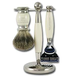 Taylor of Old Bond Street Set de rasage 3 pièces Gillette Fusion en imitation ivoire