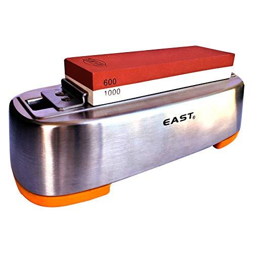 East® premium cote | 2-in-1cote | 600/1000grit affilatura pietra–naniwa–heavy regolabile in acciaio inox holder included | con base di gomma 28 x 11.6 x 9 cm whetstone + s/s holder