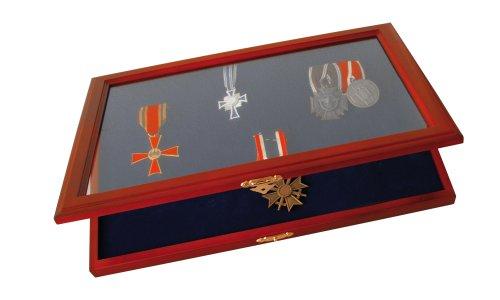 SAFE Caja Madera Segura medallas Insignias Honor