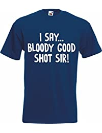 BLOODY GOOD SHOT SIR SIMPLY LOVELEH Lovely T-Shirt TShirt Adult Mens Rude House