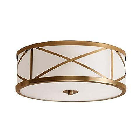 E14 Full Copper Ceiling Lamp SYAODU Round Glass Ceiling Lamp