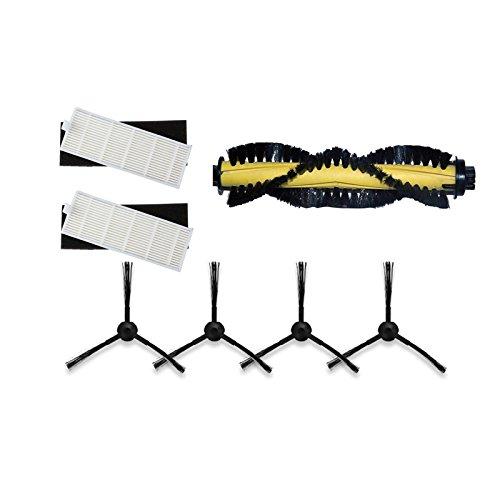 YTT 1 * Cepillo principal + 2 * Filtro HEPA + 2 * Esponja + 4 * Cepillos laterales para ILIFE Robot Aspirador Partes chuwi ilife a4 A4 T4 X432 X430