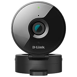 D-Link DCS-936L Videocamera di Sorveglianza HD, Wireless AC, Obiettivo Grandangolare 120 Gradi, Visore Notturno, Nero