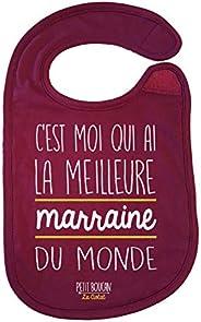 """Petit Boucan""""c'est moi qui a la meilleure marraine"""" - bavoir bébé -100% coton doux - doublé en é"""