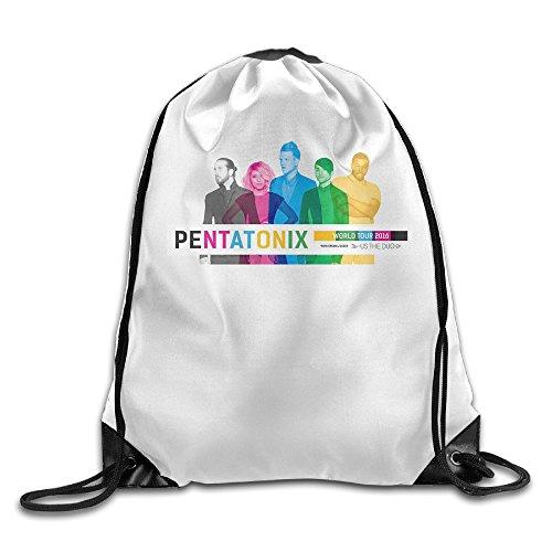 Canace Pentatonix & nosotros el Duo Deportes al aire libre cordón bolsas mochila, Blanco, talla