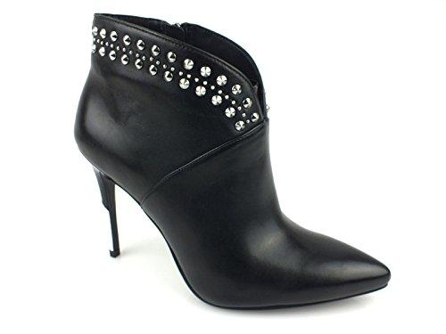 Große Größe: Damen, Knöchelhohe Stiefelette Lilka Studs Leather, GUESS mehrfarbig schwarz