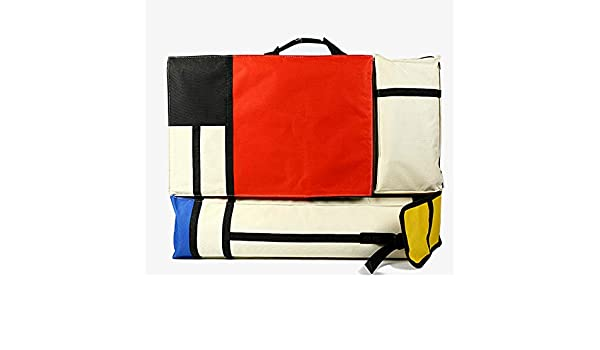 HANNA-SHOP Artist Bag Canvas Artist Portfolio Case Carry Backpack Colorized Sketch Board for Art Supplies Storage and Traveling Size Tricolor, H64L49cm